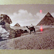 Sphinx and Pyramids Post Card