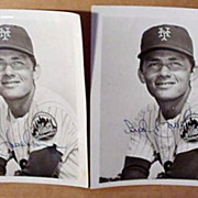 New York Mets - Bud Harrelson  - 2 Signed Photos