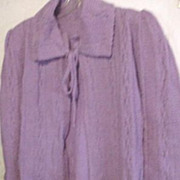 Vintage Knit Bed Jacket - Lavender