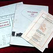 Walthers Model Railroad Catalogs - HU Gauge c.1960's