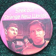 Star Trek Pin Back Button  * 1987