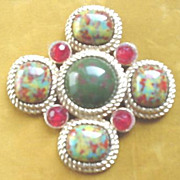 Sarah Coventry Multi - Color Stone Pin