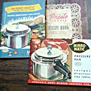 Mirro-Matic & Presto Cooking Booklets