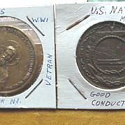 WW1 Coins/Tokens U.S. Navy