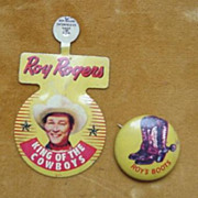 SOLD Roy Rogers  - King of The Cowboys Buttons