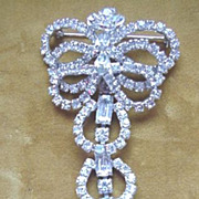 Rhinestone Dangle Pin - Must See!