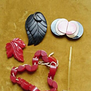 Bakelite Dress Clips & Buttons