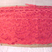 Vintage Lace 10 Yards +/- Red Lace