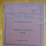 Italian Phrase Book  WW11