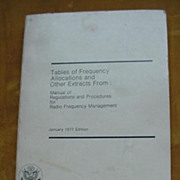 Radio Frequency Management  Manual - 1977