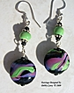 Lampwork, Peruvian Ceramic & Sterling Silver Earrings