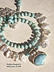 Larimar, White Freshwater Keishi Pearl & Sterling Silver Necklace
