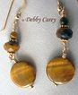 Yellow Tiger Eye, 24k Gold Vermeil & 14k Gold Fill Earrings