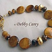 SOLD Yellow Tiger Eye & 24k Gold Vermeil Bracelet
