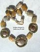 African Metalwork & Crazy Lace Agate Necklace