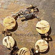 SALE Tiger Feldspar & Smokey Quartz Bracelet