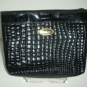 SALE Black Patent leather clutch purse