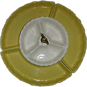 California  Pottery Yellow Pedestal  Relish  Lazy Susan
