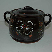 REDUCED Japan brown  bean pot with cups