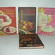Four Farm Journal Country Cookbooks 2nd Printing 1971