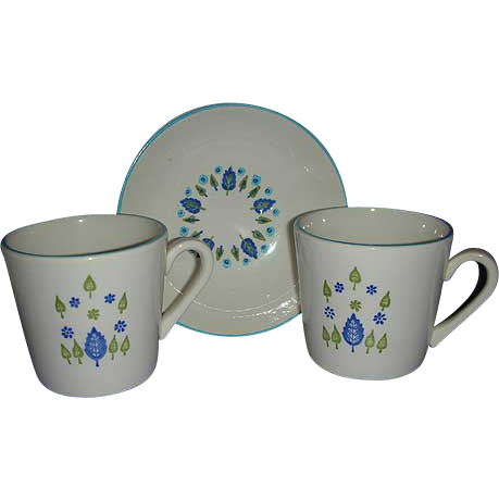 1950's Swiss Chalet by Marcrest bowl & cups