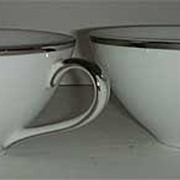 Harmony House, Moderne cup white and silver