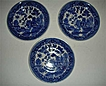Vintage Japan Blue willow saucers