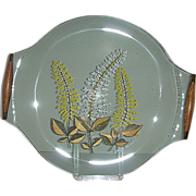 George Briard glass wheat flower serving tray
