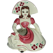 Goldhammer  hat girl Ceramics of San Francisco ,California planter vase