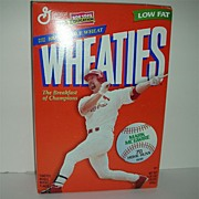 Mark McGwire Wheaties unopened cereal box