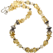 REDUCED Golden Citrine Barrel Necklace