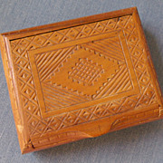 Jewelry Box-Teakwood Carved Dresser Box