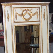 Mirror-Trumeau Style-Gold Trim Onlay