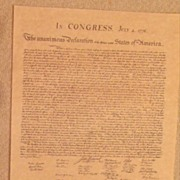 Declaration of  the Thirteen States of America-History-Congress-Bi-Centennial-Parchment Art