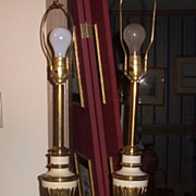 Steiff Lamps-Matching Pair Gold and White