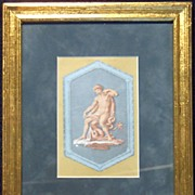 Grecian Art Work-Mythology Lithograph Framed