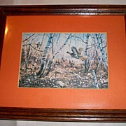 Framed Pheasants Lithograph Birds