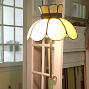 Slag Glass Floor Lamp-YellowTulip Design