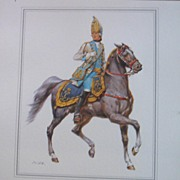 Officer Soldier Russian Empire-Lithograph