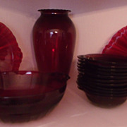 Ruby Red Cranberry Berry Set  and More