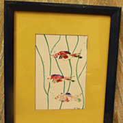 Original Art Thumbprint Fish
