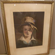 Torn Hat Framed Lithograph by Thomas Sully