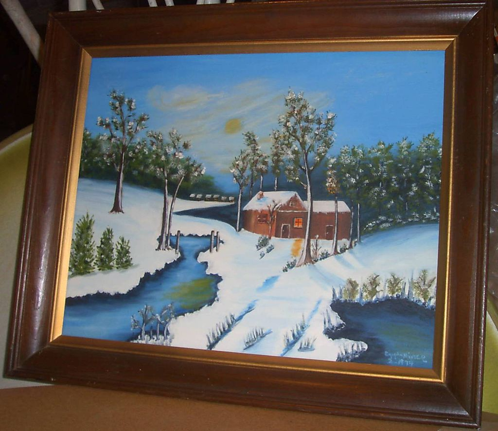 Oil Painting Snow by Emma Minter