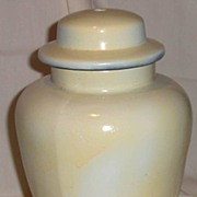 Ginger Jar Ceramic Lamp Base Painted White