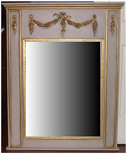 Trumeau French Style Wall Mirror from carolines-collectibles on Ruby ...