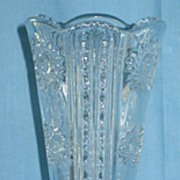 Early American Pattern Glass Vase