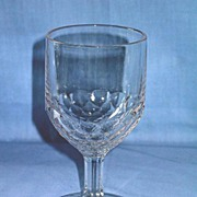 Laredo or New York Honeycomb Pattern Glass Goblet