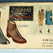 Zippers Boots by Goodrich  Advertising Blotter
