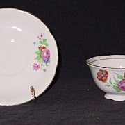 Floral Decorated Occupied Japan Cup and Saucer