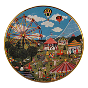 Country Fair Collector Plate by Jane Wooster Scott